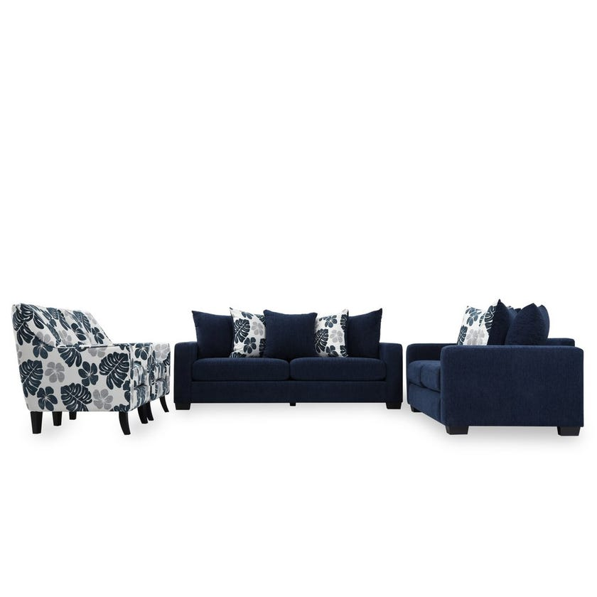 Rocky 7-Seater Fabric Upholstered Sofa Set