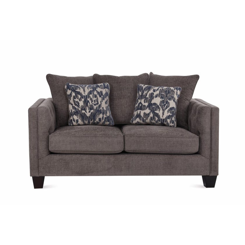 Code 2-Seater Fabric Upholstered Sofa, Grey