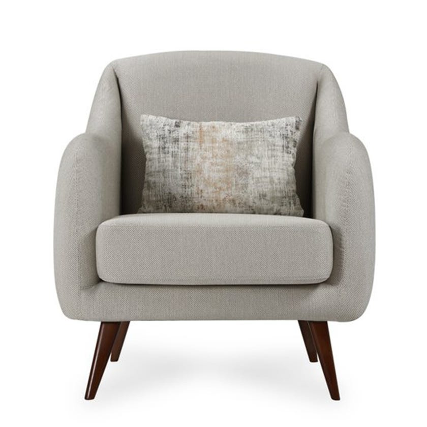 Natali Fabric Upholstered Armchair, Beige