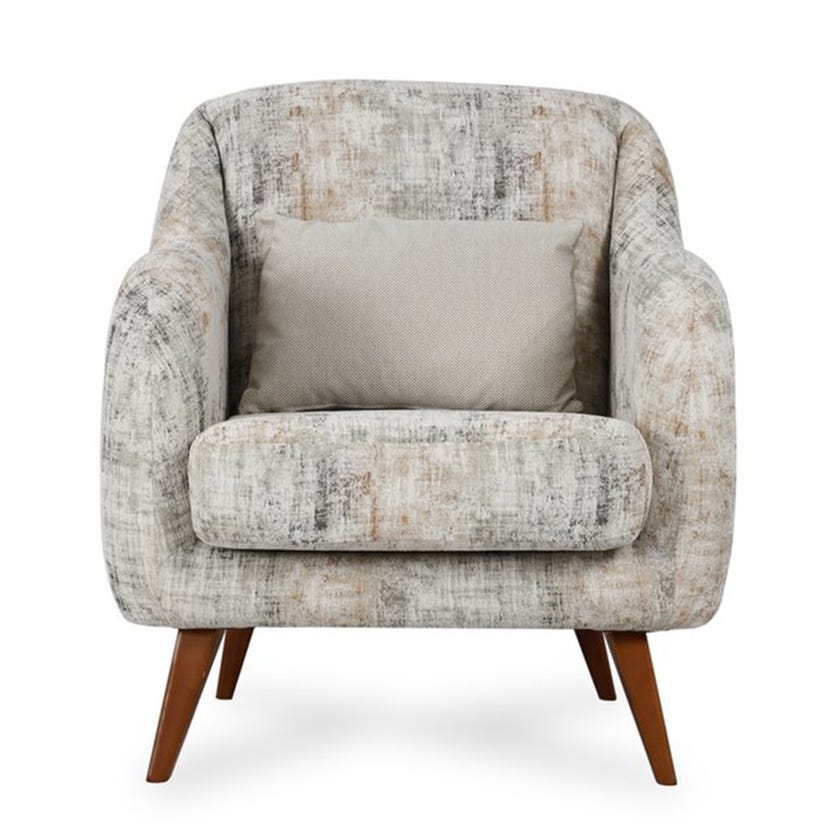 Natali Fabric Upholstered Armchair, Printed