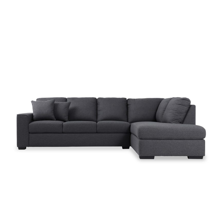 Tracy 4-Seater Fabric Upholstered Corner Sofa, Grey