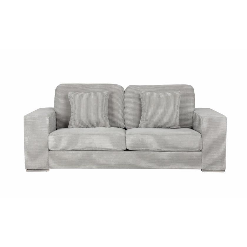 Austin 3-seater Fabric Upholstered Sofa, Grey