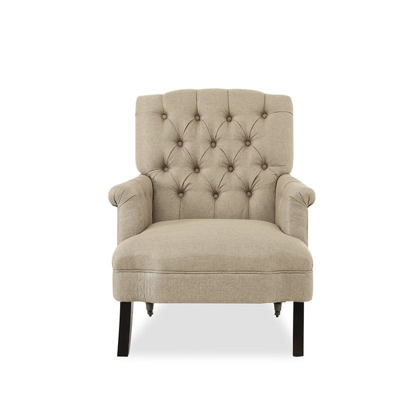 Turbo Fabric Upholstered Armchair - Brown