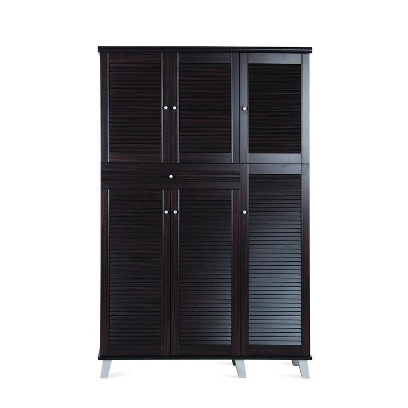 Adi 6-door 1-drawer Shoe Cabinet - Wenge