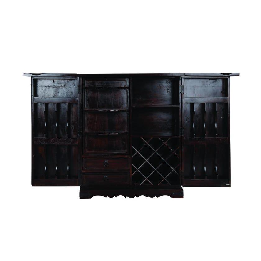 Budha Wooden Bar Counter - Wenge