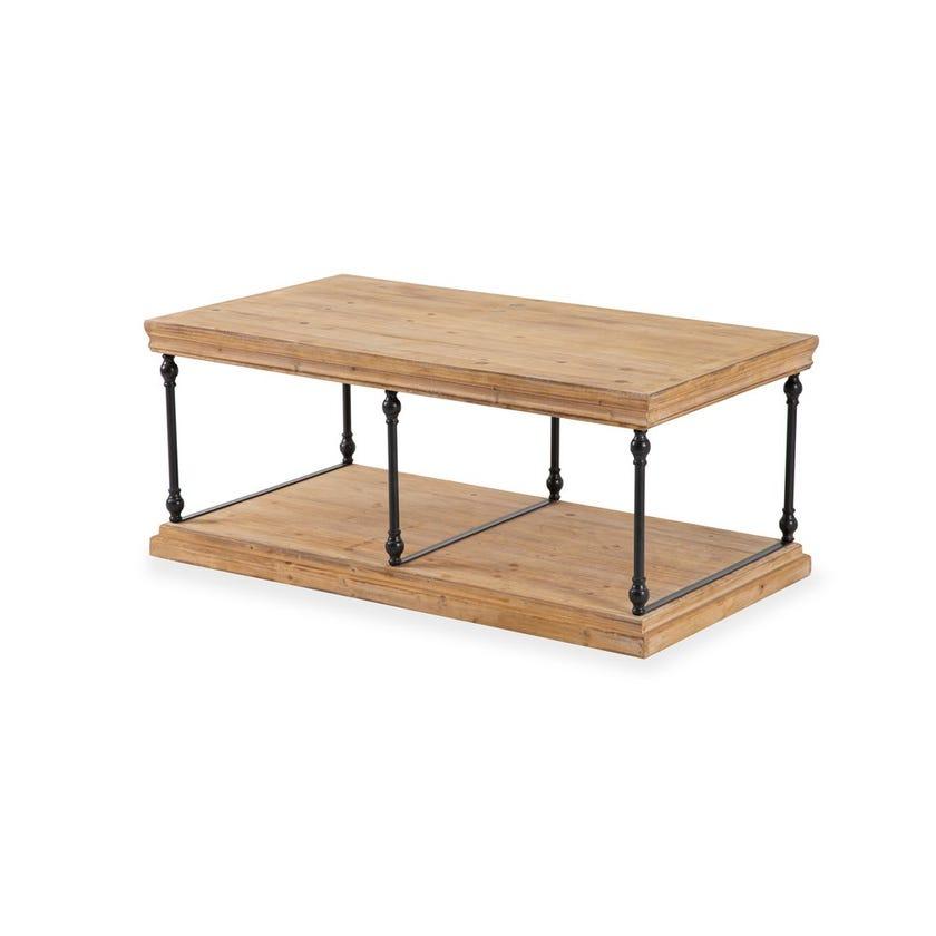 Vega Wooden Coffee Table - Walnut