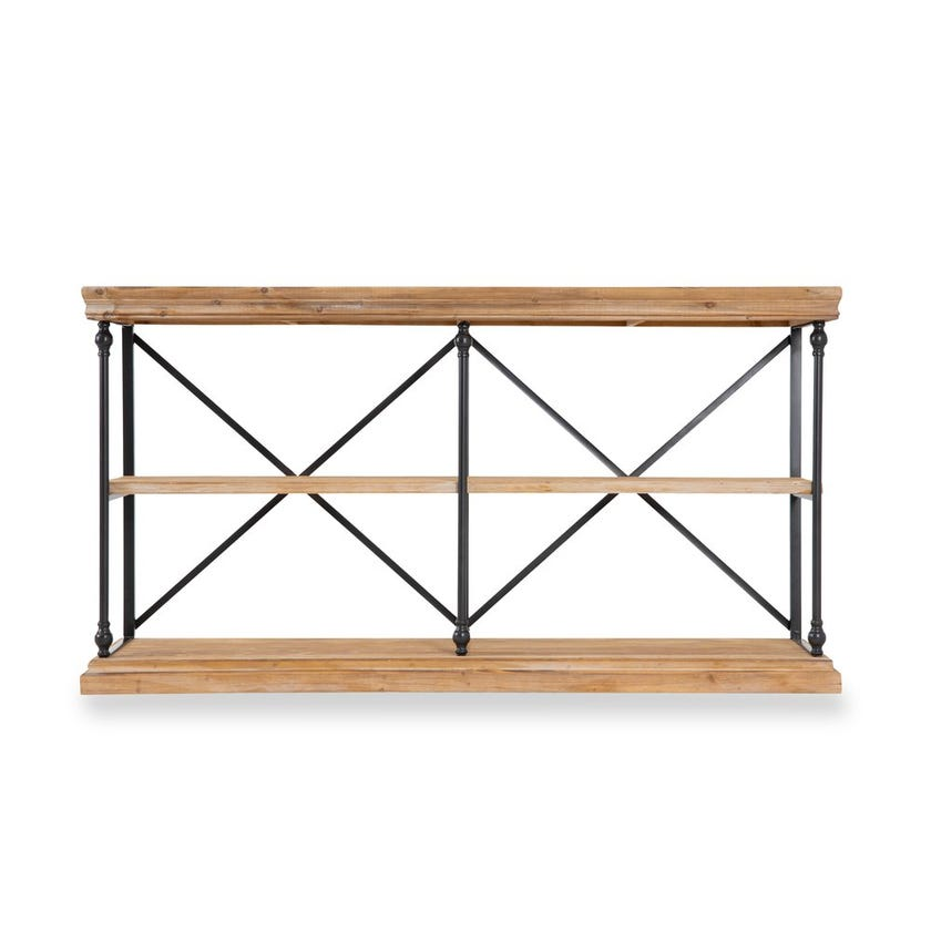 Vega 3-shelf Console Table - Walnut