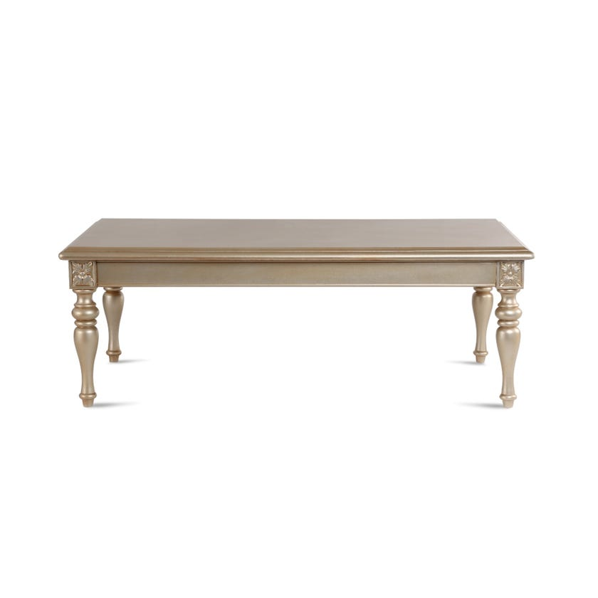 New Abyan Engineered Wood Nest of 3 Tables - Gold