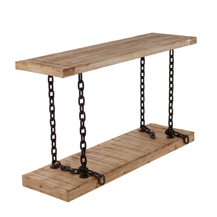 Chain Wooden Console Table