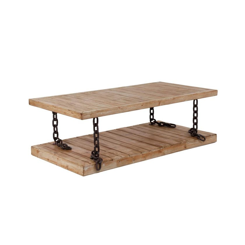 Chain Wooden Coffee Table