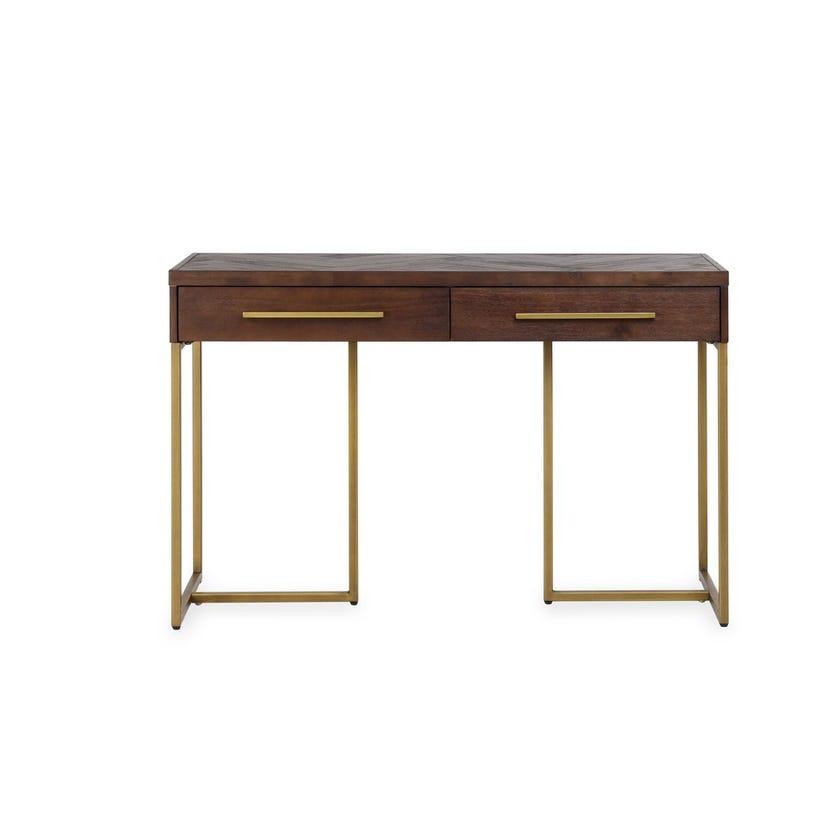 Bruno Veneer 2-drawer Console Table - Brown