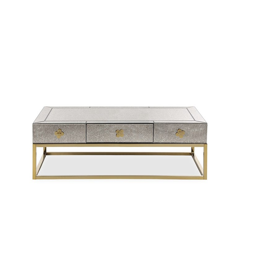 Bessie Mirrored Coffee Table - Silver