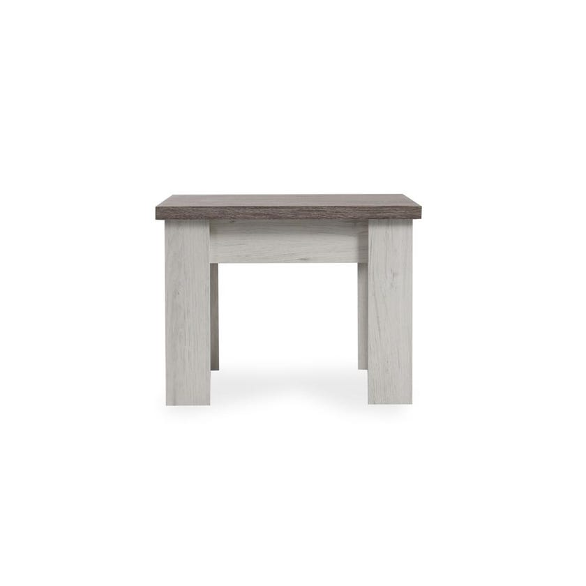 Emily Engineered Wood End Table - Grey