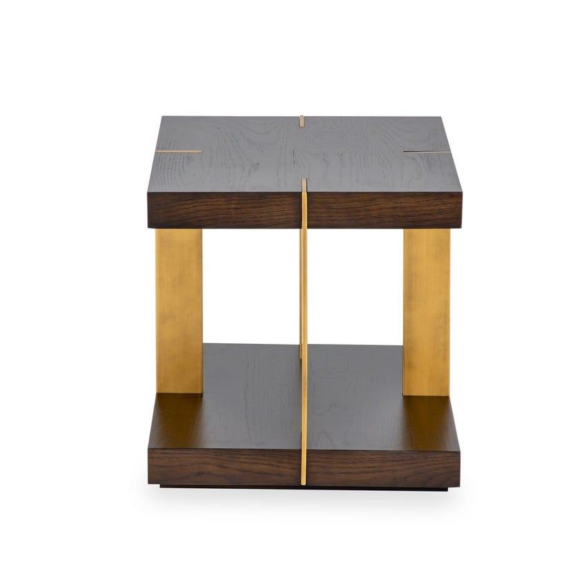 Verrazzano Veneer End Table - Wenge