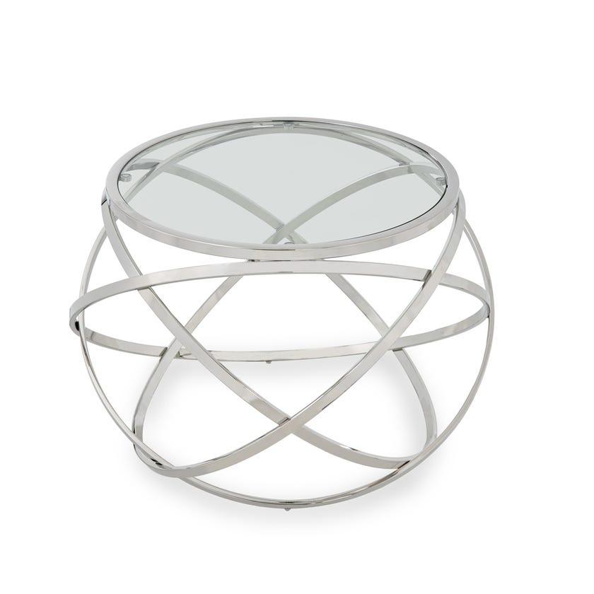 Orbit Metal Side Table - Silver