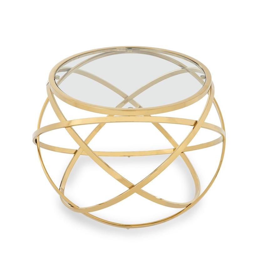 Orbit Metal Side Table - Gold