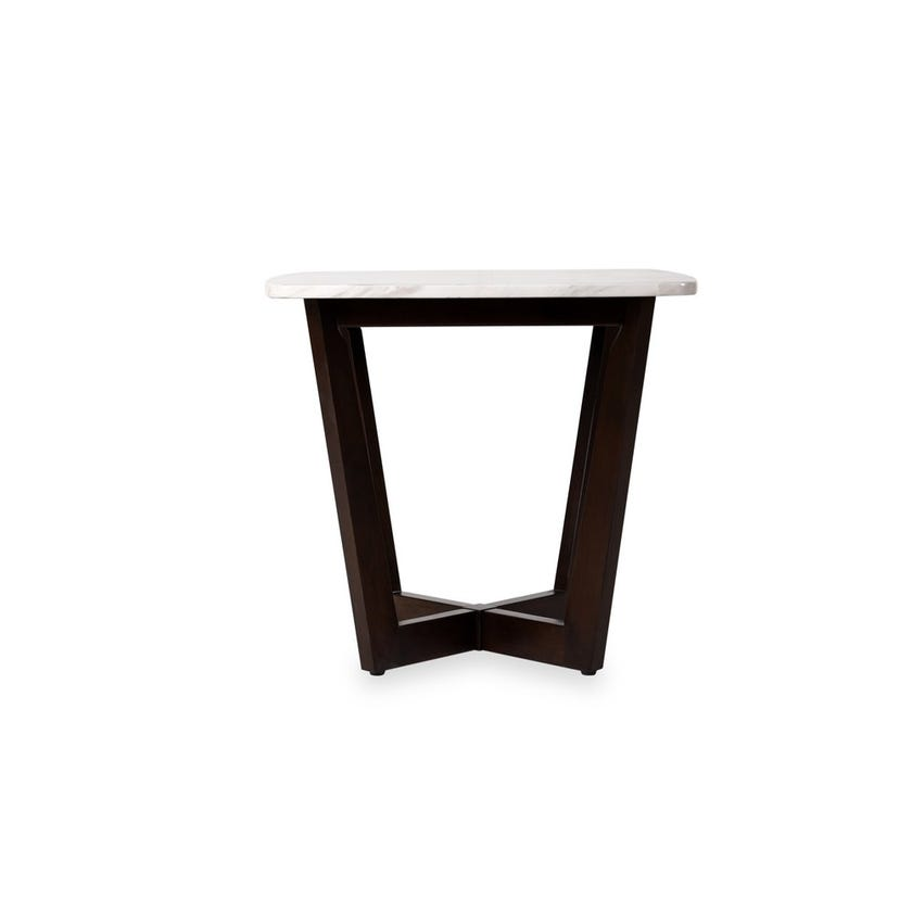 Edward Engineered Wood End Table - White