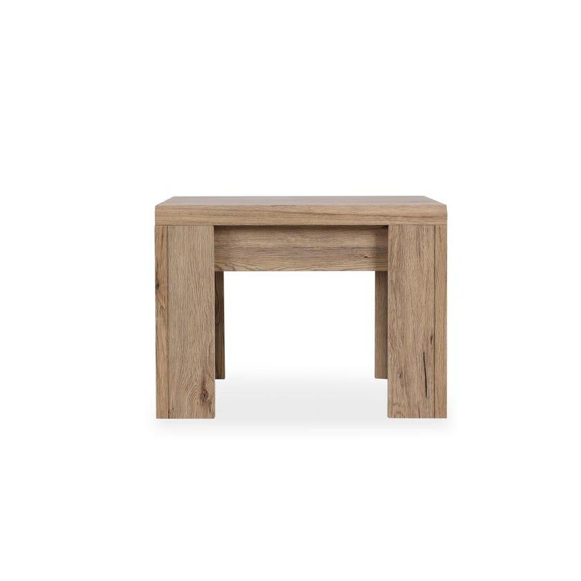 Braxton Wooden End Table, Summer Oak