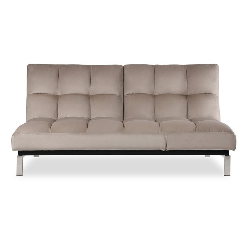 New Bruce Fabric Upholstered Sofa Bed - Brown