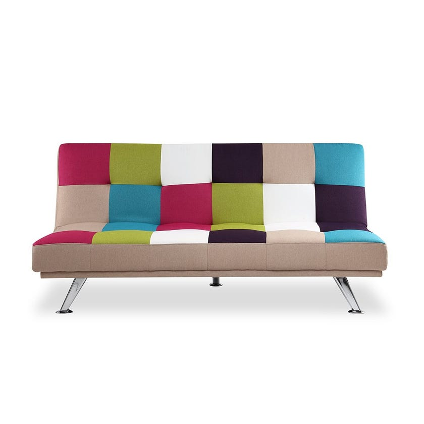 New Pestal Fabric Upholstered Sofa Bed - Brown