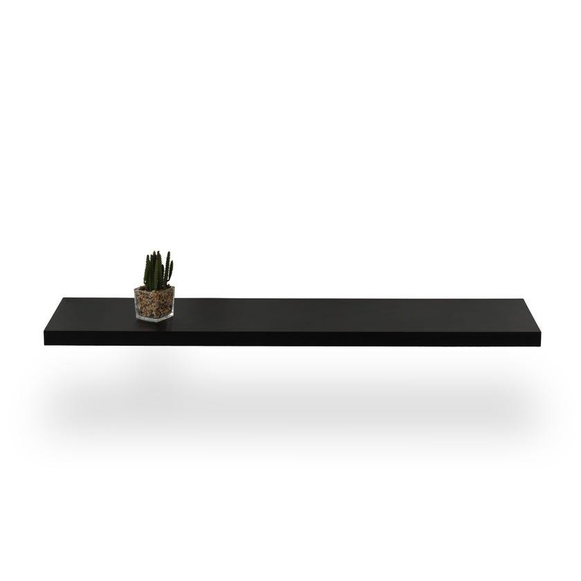 Engineered Wood Wall Shelf - Black