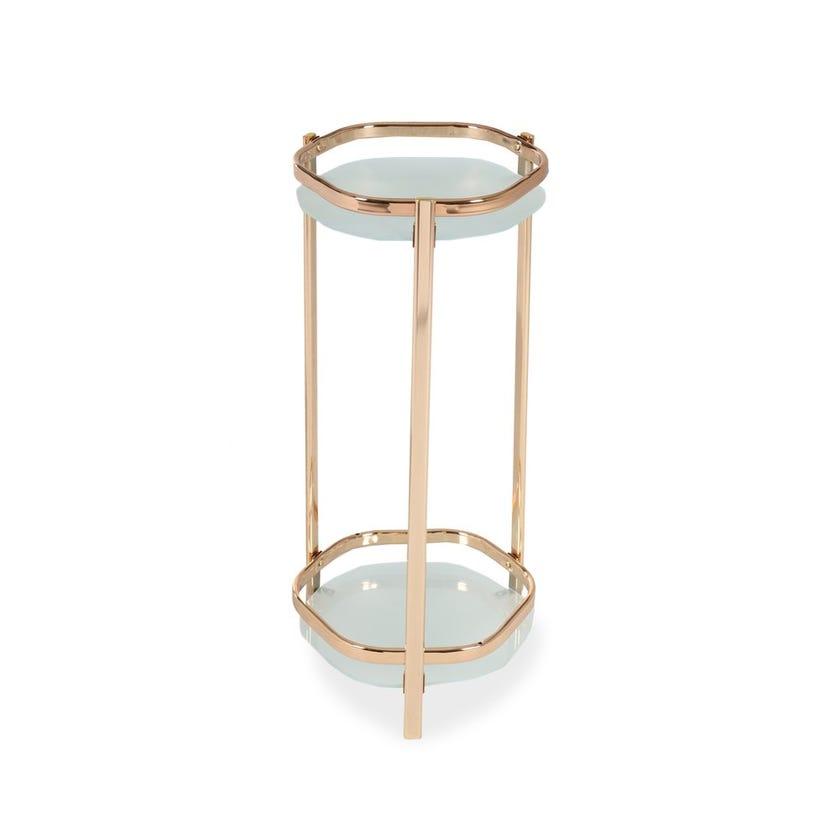 Lotus Medium Sized Metal Plant Stand - Gold