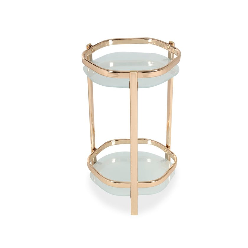 Lotus Small Metal Plant Stand - Gold