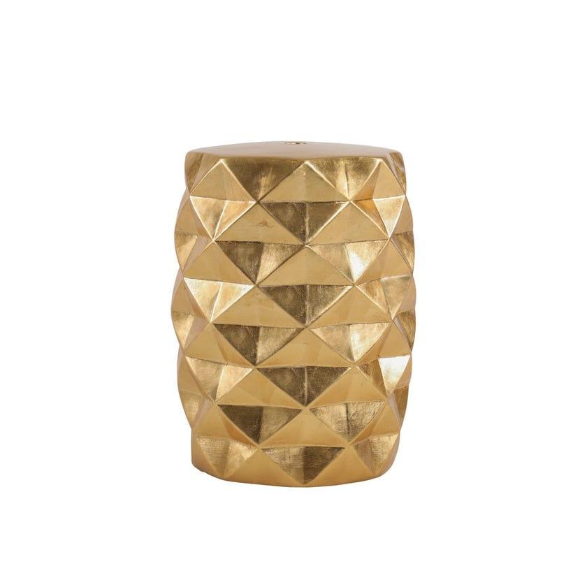 """Ceramic Stool - Gold, 18"""""""