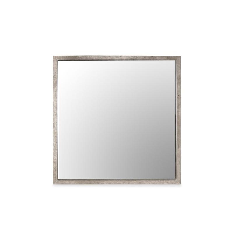 Lublin Engineered Wood Console Mirror - Grey