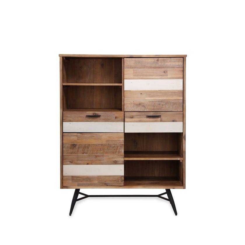 Ella Engineered Wood 2-door 2-drawer Cabinet