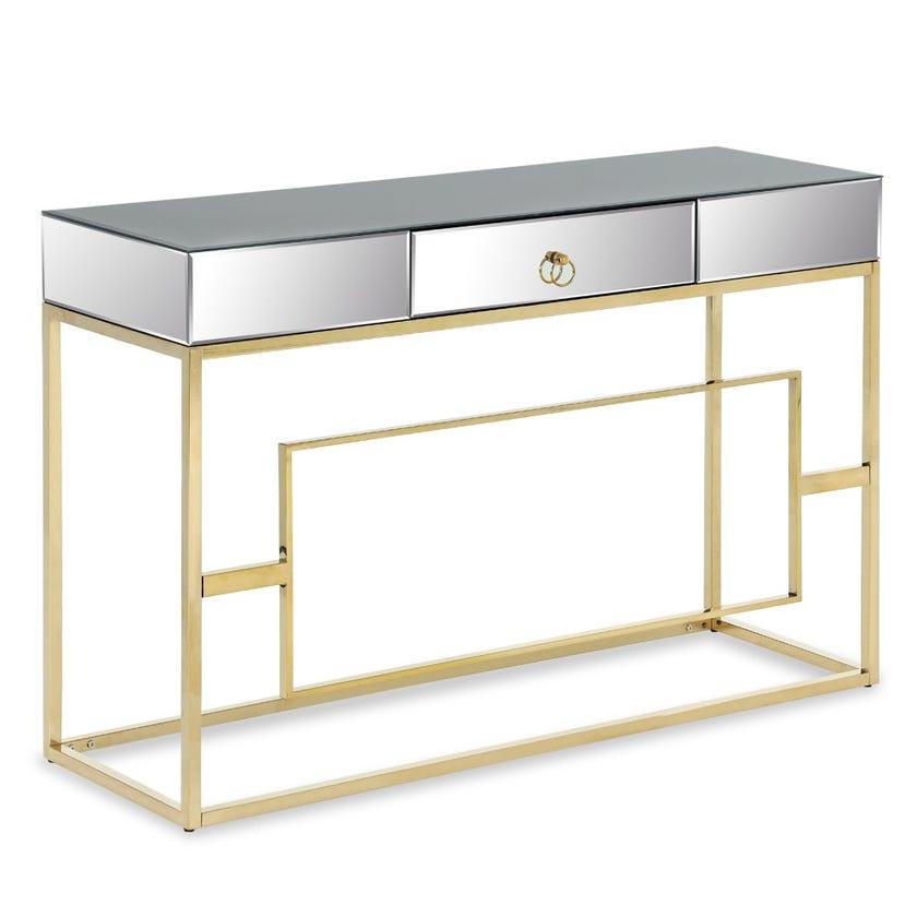 Azalea Metal Console Table (Silver)