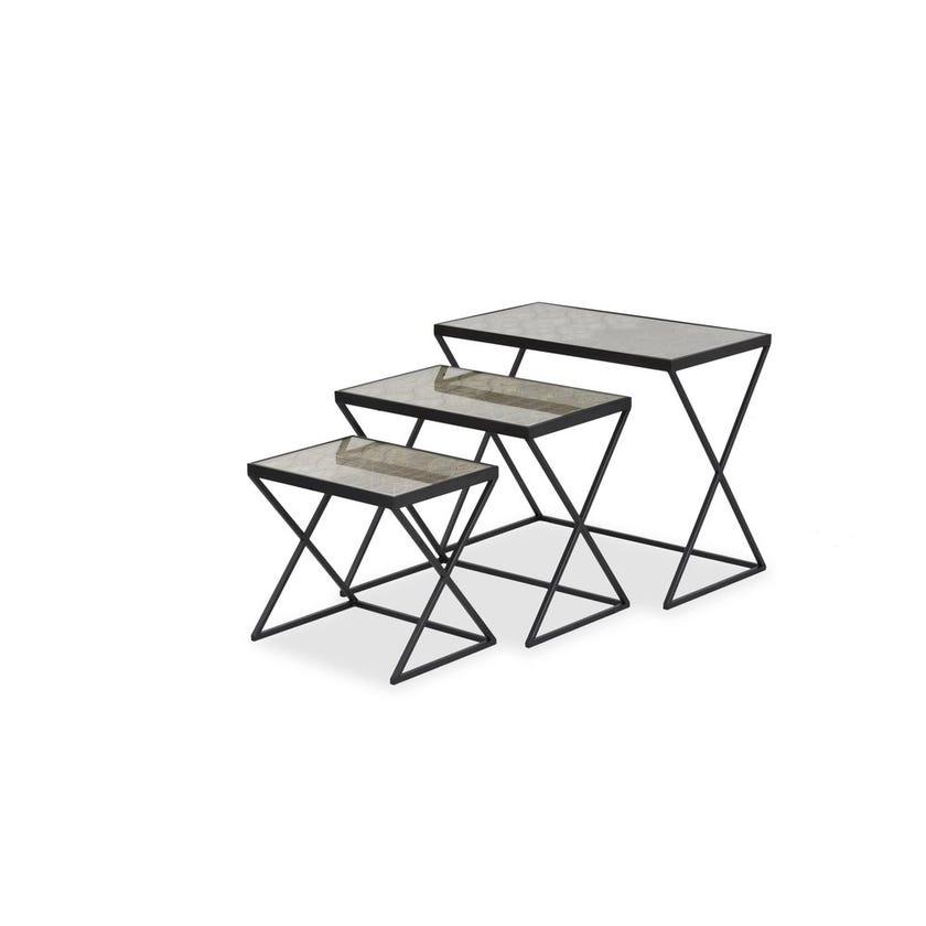 Roger Nesting Table - Set of 3 - Black