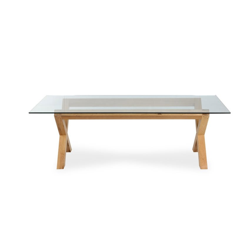 Venice Glass 8-Seater Dining Table