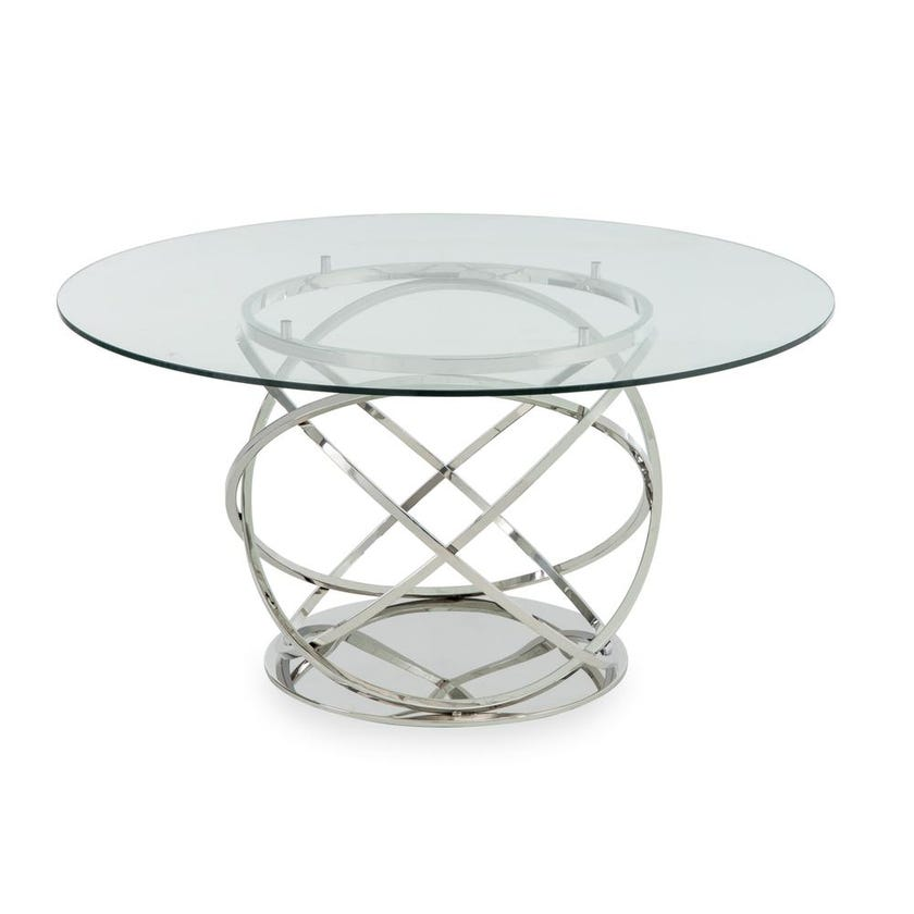 Orbit Metal 6-seater Dining Table - Silver