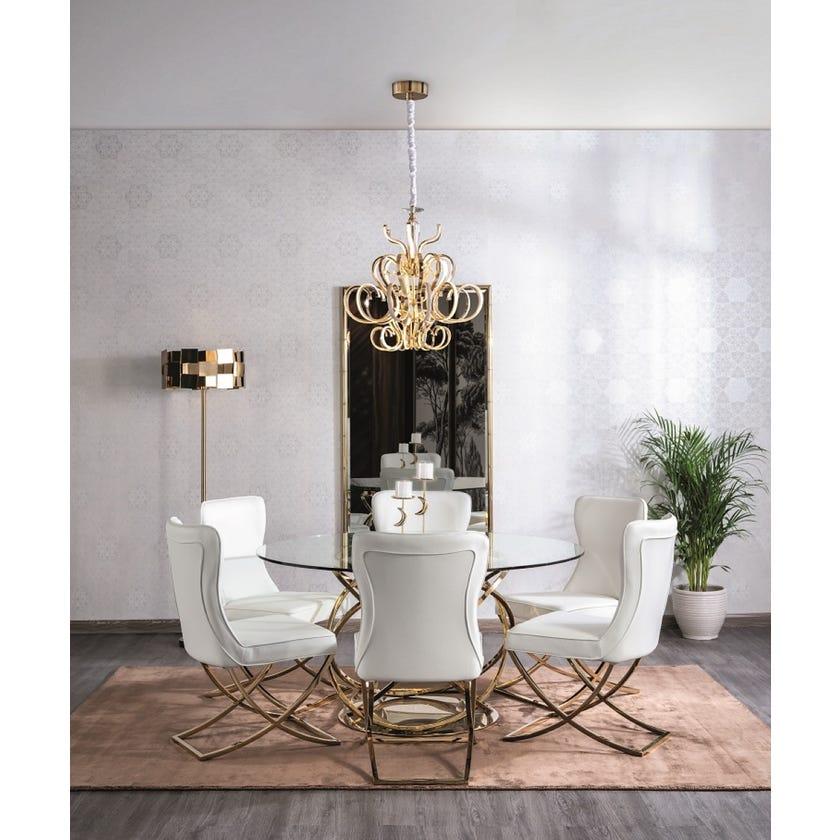 Orbit Metal 6-seater Dining Table - Gold