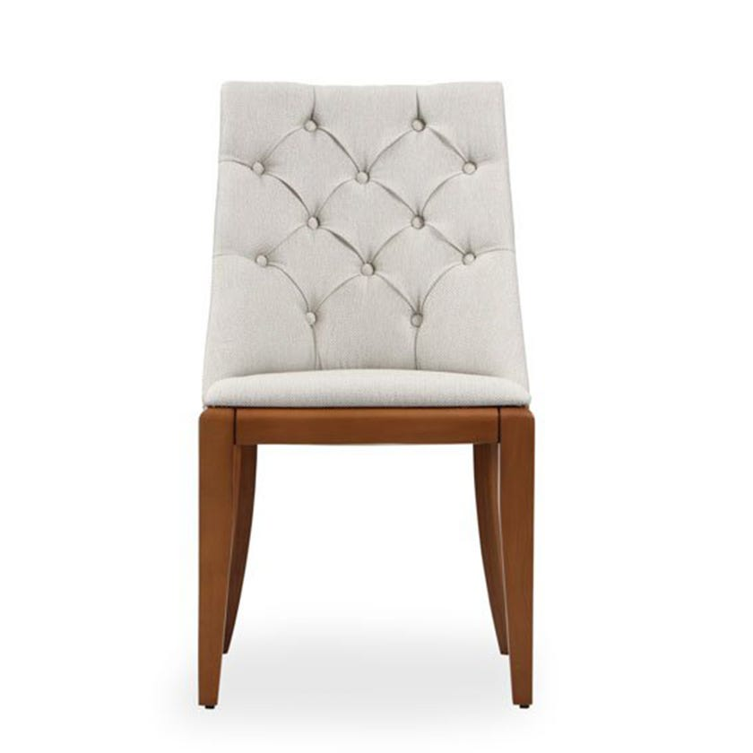 Natali Fabric Upholstered Wooden Dining Chair