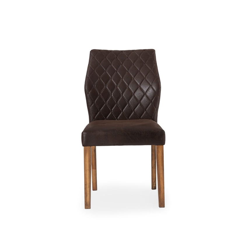 Sunny Fabric Upholstered Wooden Dining Chair