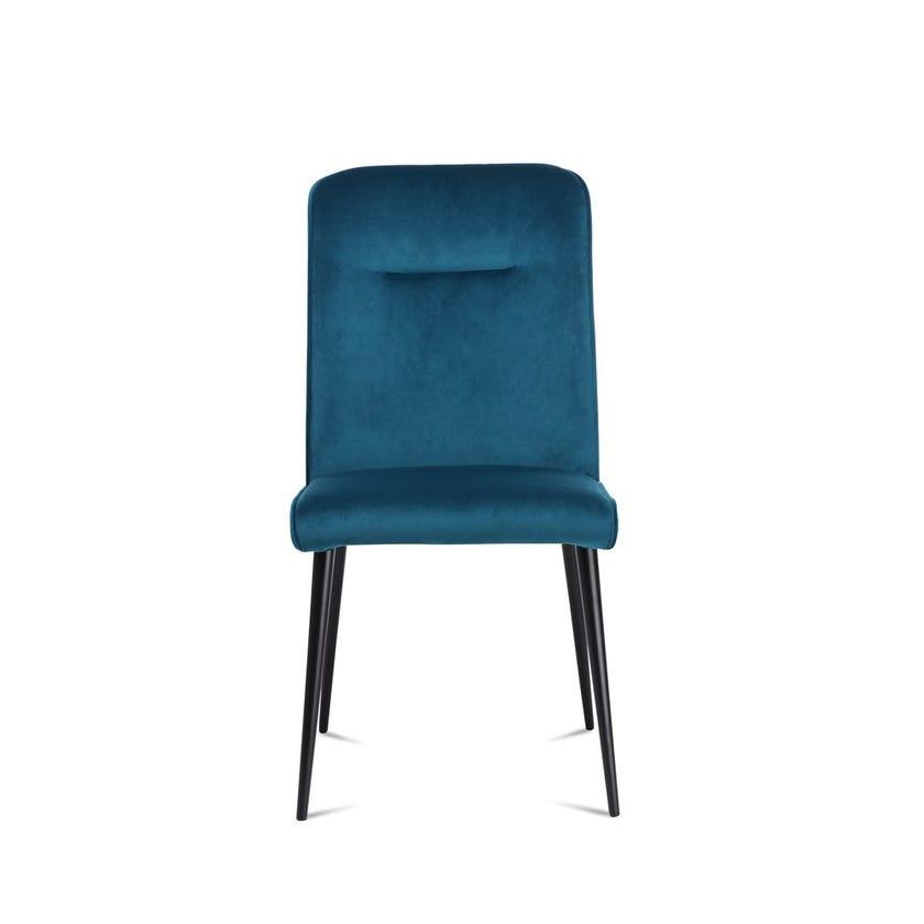 Ella Velvet Upholstered Metal Dining Chair