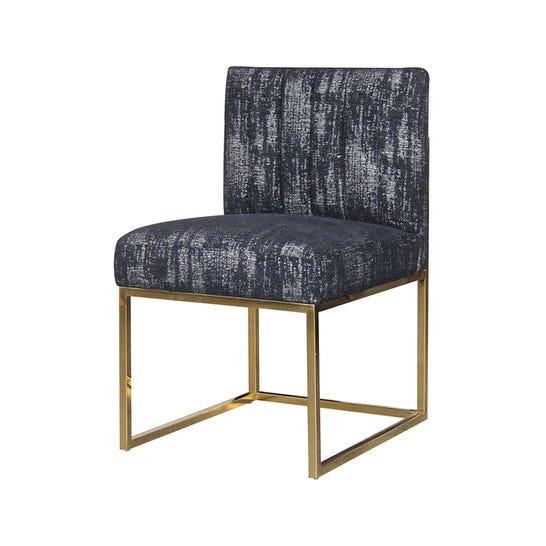 Austin Dining Chair, Black & Gold