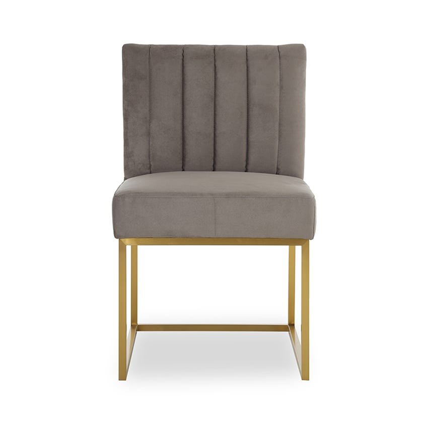 Erica Fabric Upholstered Metal Dining Chair