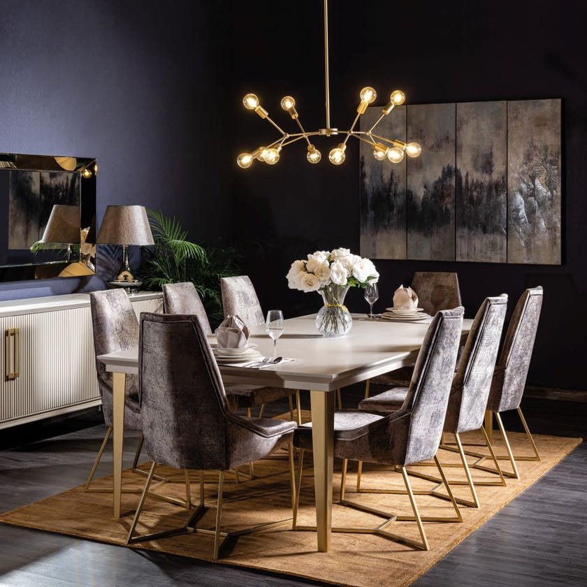 Osaka Wooden 8-Seater Dining Table