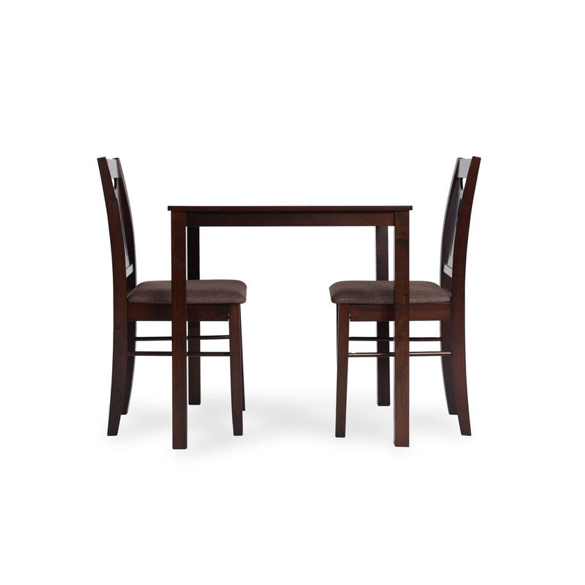 Brunch PVC Upholstered Engineered Wood 2-seater Dining Set with 2 Chairs - Wenge