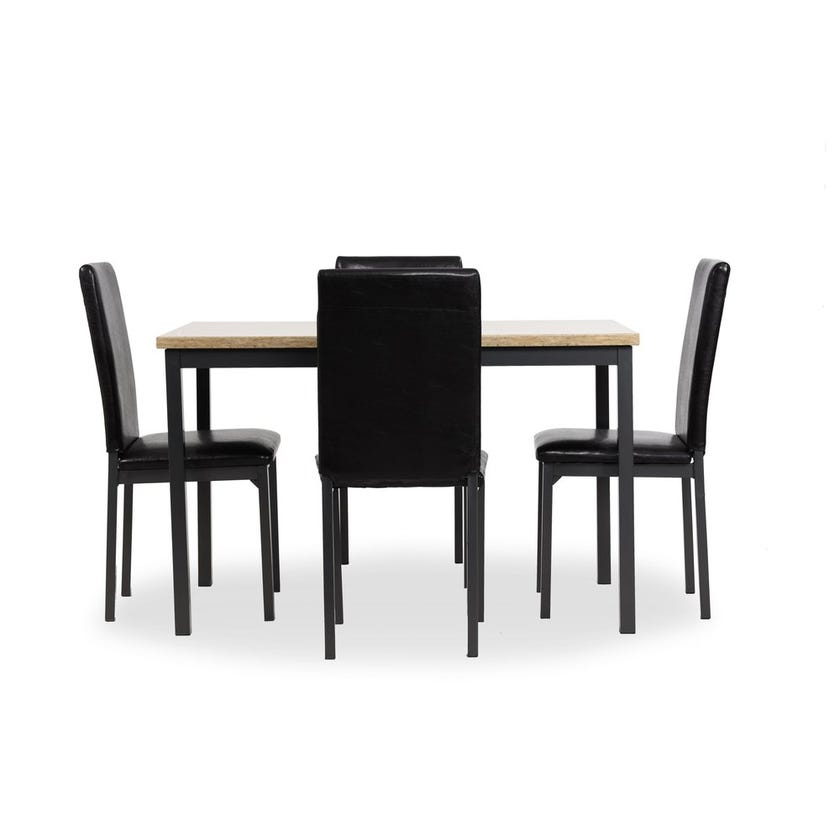 Potery Engineered Wood 4-seater Dining Set with 4 Chairs