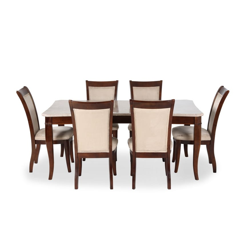 Oxa 6-seater Dining Set with 6 Chairs