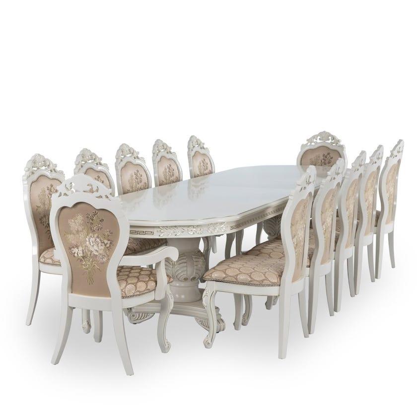 Ron 12-Seater Dining Set 1+2+10 - White