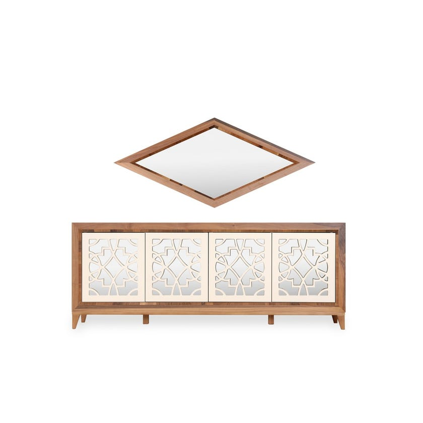 Oslo 4-Drawer Sideboard with Mirror