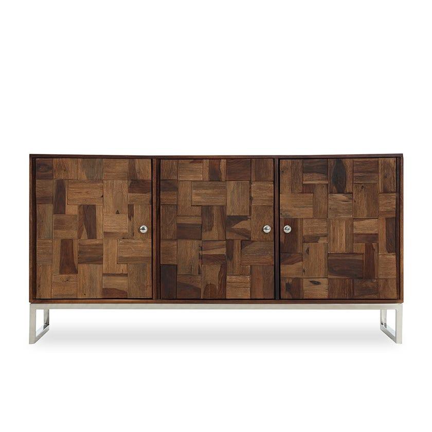 Castilian Sheesham Wood 3-door Sideboard - Walnut