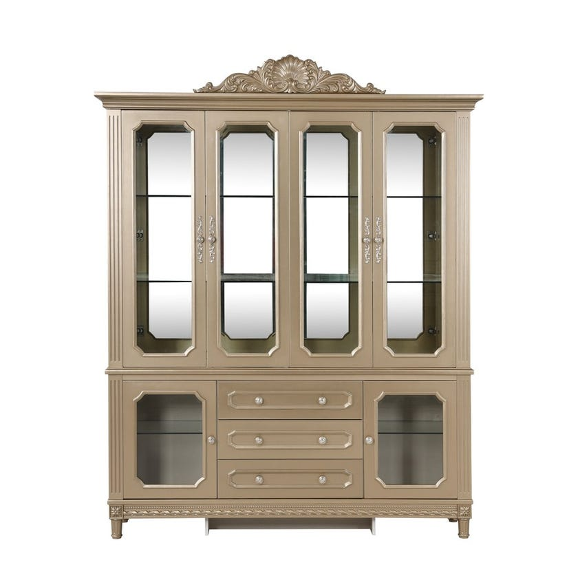 Melika 4-door Cabinet with 3 Drawers - Gold