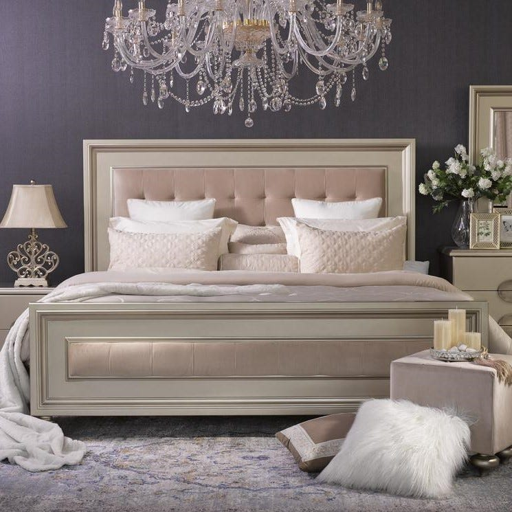 Boston Super King Bed - Gold - 200x200