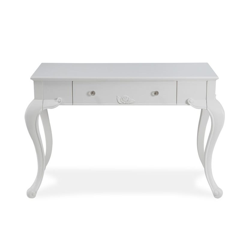 New Louis Engineered Wood Desk with drawer - White